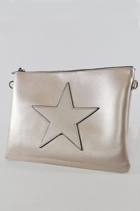 ROSE GOLD STAR CLUTCH