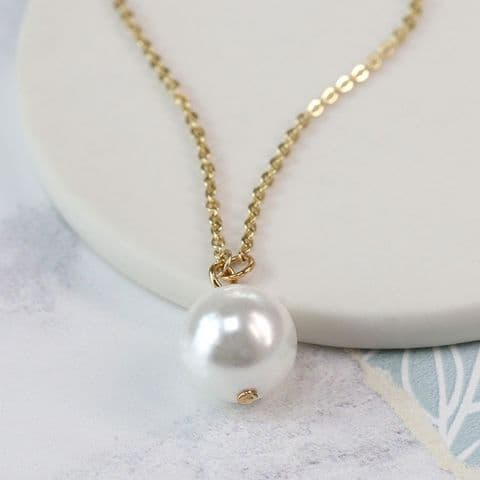 SINGLE PEARL GOLD NECKLACE