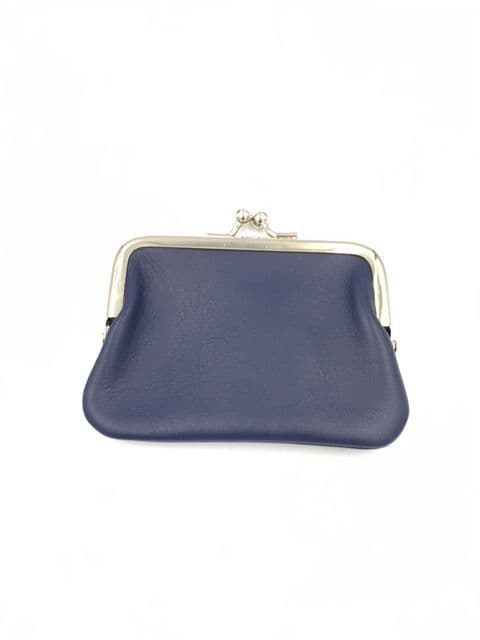 SMALL LEATHER PURSE NAVY