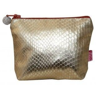 SNAKESKIN MINI PURSE GOLD