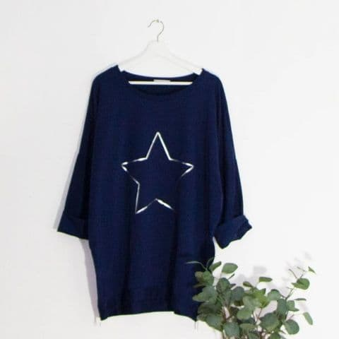 STAR OUTLINE TOP NAVY