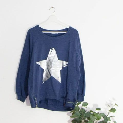 STAR & ZIP TOP DARK NAVY