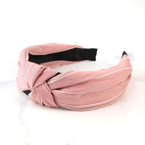 STRIPED HEADBAND PINK