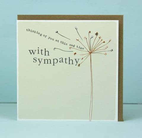 WITH SYMPATHY THINKING OF YOU CARD