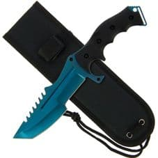 Blue Ghost Fixed Blade Knife