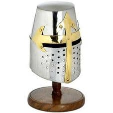 Mini Knights Helmet (crusader) With Stand (WEBSITE EXCLUSIVE)