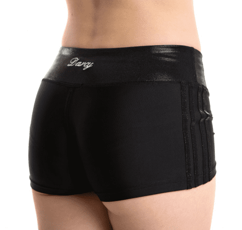Lycra / Mystique  4 Stripe Shorts - BLACK