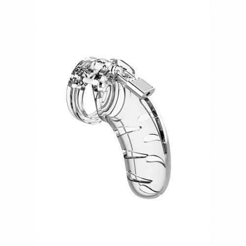 Man Cage 03 Male 4.5 Inch Clear Chastity Cage