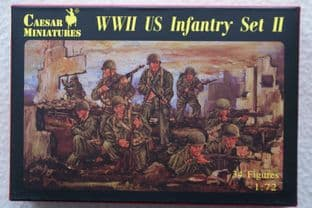 Caesar Miniatures 1/72 CMH071 US Infantry Set 2 (WW2)