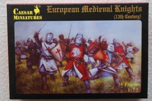 Caesar Miniatures 1/72 CMH087 European Knights, 13th Century (Medieval)