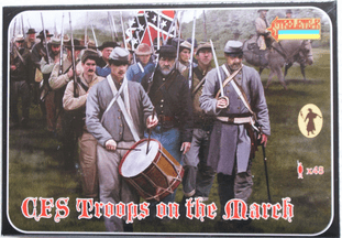 Strelets 1/72 ST0147 Confederate Infantry On The March (ACW)