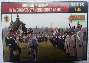 Strelets 1/72 ST0219 Russian Infantry In Greatcoat Standing Order Arms (Napoleonic)