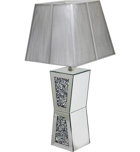 Crystal Plynth Table Lamp