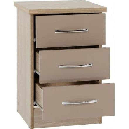 Nevad 3 Drawer Bedside