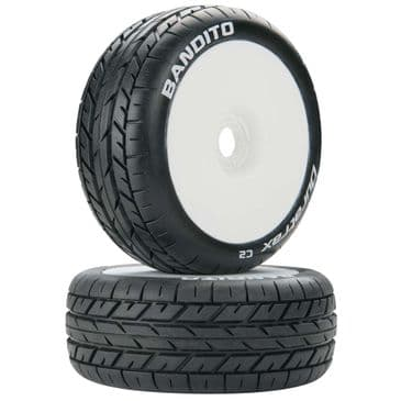 Duratrax Bandito 1/8 Buggy Mounted C2 Tyre White (1 Pair)