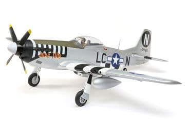 E-Flite P-51 Mustang 1.2M BNF Basic with AS3X + Safe Select