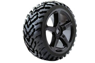 Fastrax 1/8 Truggy Mounted Wheel+Tyre (1 Pair)