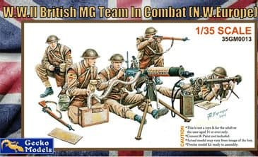 Gecko 1/35 WW2 British MG Team in Combat N.W Europe
