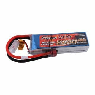 Gens Ace 3s 11.1v 2200mah 25c with T-Type (Deans)
