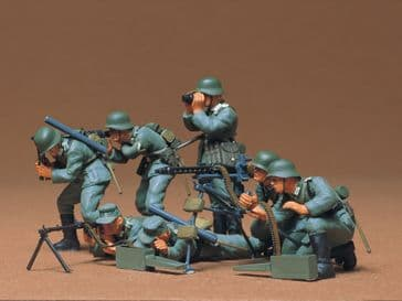 Tamiya 1/35 German Machine Gun Troops.