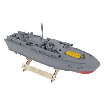 Wooden PT-109 Patrol Torpedo Boat Kit 400mm