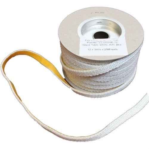 12mm x 3mm Taped Glass Rope Seal