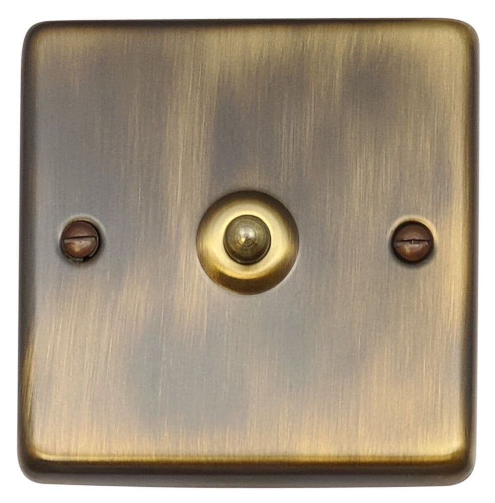 G&H CAB281 Standard Plate Antique Bronze 1 Gang 1 or 2 Way Toggle Light Switch