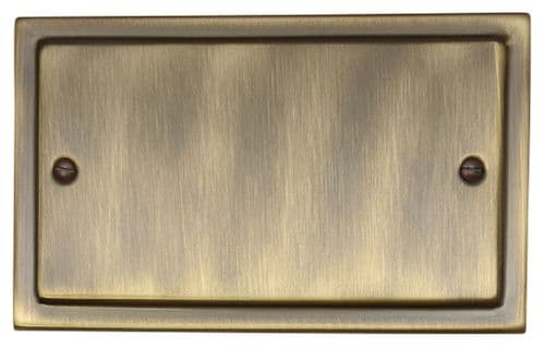 G&H TAB32 Trimline Plate Antique Bronze 2 Gang Double Blank Plate