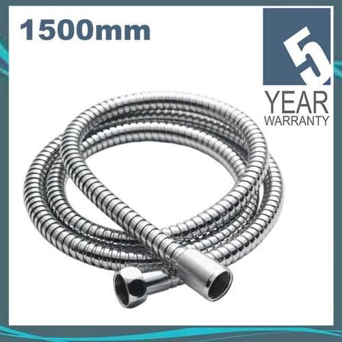 Pura KI190 Chrome Plated Stainless Steel Double Lock 1.5m Flexible Shower Hose for Wide Bore