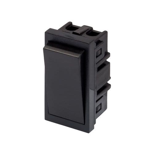 RT 10A 2 Way Rocker (25mmX50mm) Black 09043
