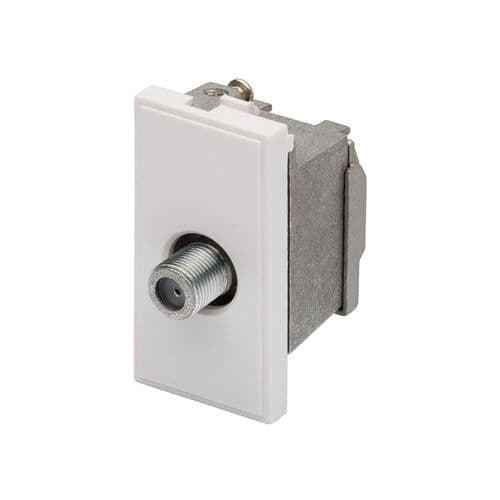 RT Sat F-Connector Outlet  (25mmX50mm) White 09004