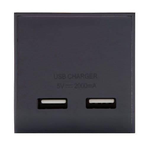 RT USB Charger 2.1A (50mmX50mm) Black 09017
