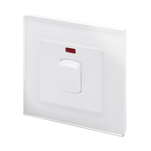 RetroTouch 20 Amp Double Pole Heater Switch White Glass PG 01721