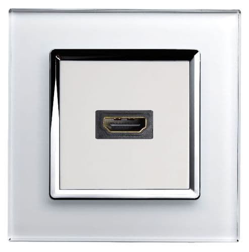 RetroTouch HDMI Socket White Glass CT 00313