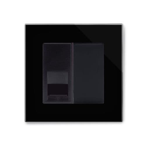 RetroTouch Single BT Slave Socket Black Glass PG 04089