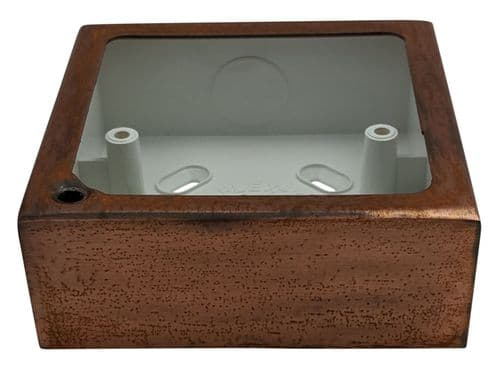 G&H 709TC 1 Gang Tarnished Copper Surface Mounted Single 30mm Pattress Box