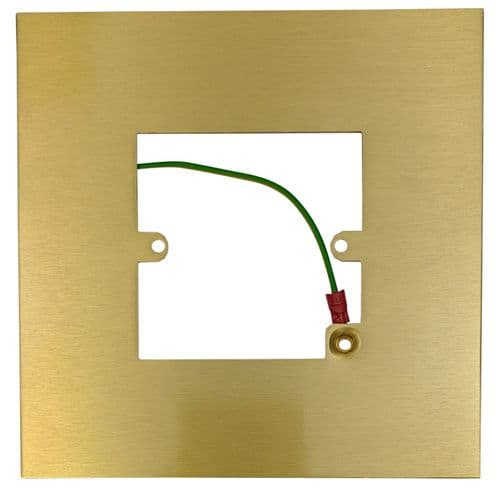 G&H 809SB Satin Brushed Brass Finger Plate Surround 152mm x 152mm for Single Plate
