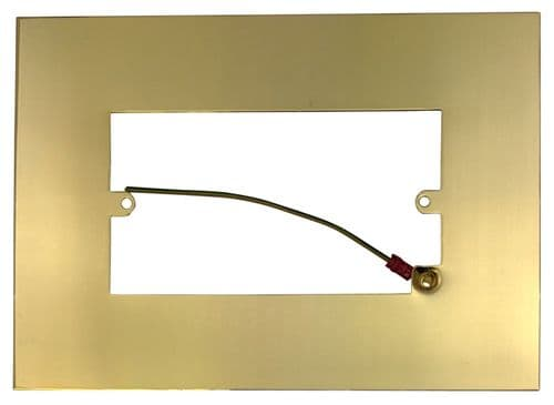 G&H 810B Polished Brass Finger Plate Surround 212mm x 152mm for Double Plate
