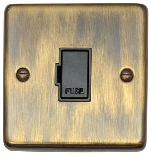G&H CAB90B Standard Plate Antique Bronze 1 Gang Fused Spur 13A Unswitched