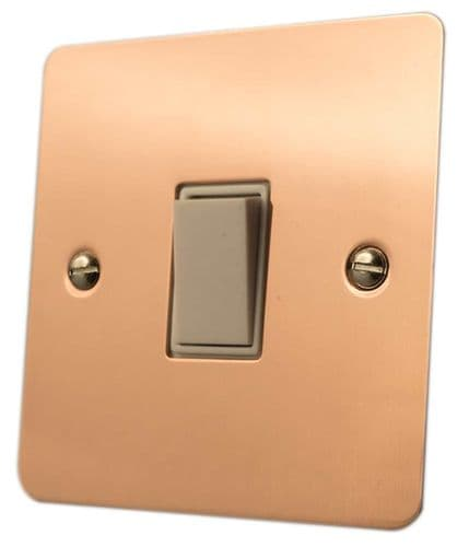 Flat Plate Bright Copper Light Switches Plug Sockets Dimmers Toggles