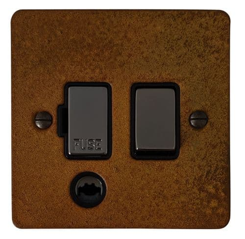G&H FRT356 Flat Plate Rust 1 Gang Fused Spur 13A Switched & Flex Outlet