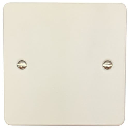 G&H FW31 Flat Plate Matt White 1 Gang Single Blank Plate