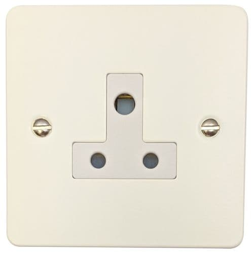 G&H FW59W Flat Plate Matt White 1 Gang Single 5 Amp Plug Socket