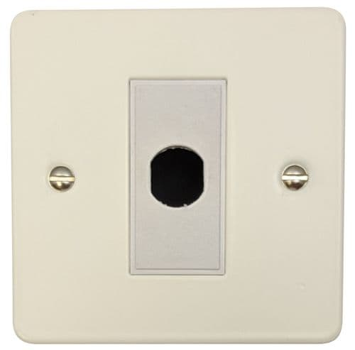 G&H FW79W Flat Plate Matt White 1 Gang Flex Outlet Plate