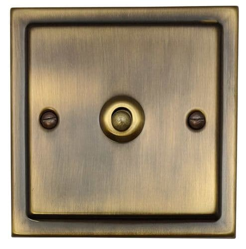G&H TAB281 Trimline Plate Antique Bronze 1 Gang 1 or 2 Way Toggle Light Switch