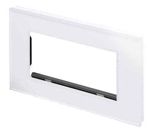 RetroTouch Replacement Glass Plate Cover to suit Crystal White PG Double Socket 04901