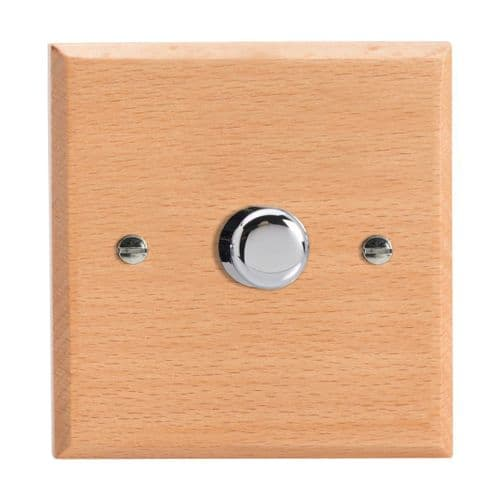 Varilight HK3BE Kilnwood Scandic Beech 1 Gang 2-Way Push-On/Off Dimmer 60-400W V-Dim