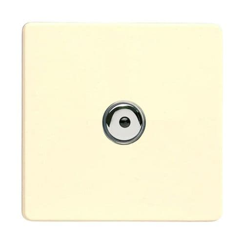 Varilight IJDWI101S Screwless White Chocolate 1 Gang Remote/Touch Master LED Dimmer 0-100W