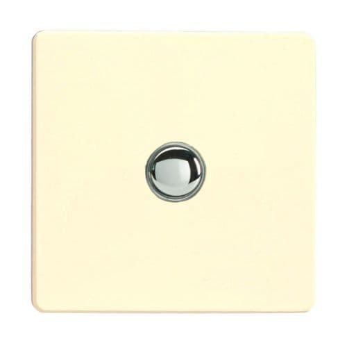 Varilight IJDWS001S Screwless White Chocolate 1 Gang Touch Dimming Slave (use only with Master)