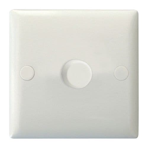 Varilight JOP401W Value Polar White 1 Gang 2-Way Push-On/Off LED Dimmer 0-120W V-Pro